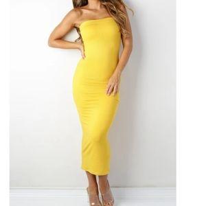 New! Heart Hips Strapless Bodycon Maxi Dress